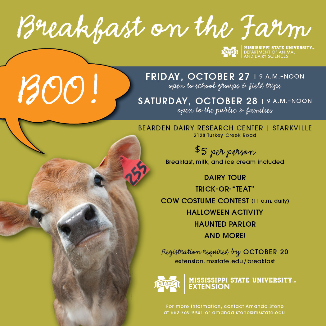 Mississippi State University Halloween Activities 2020 Breakfast on the Farm set for Oct. 27 28 | Mississippi State