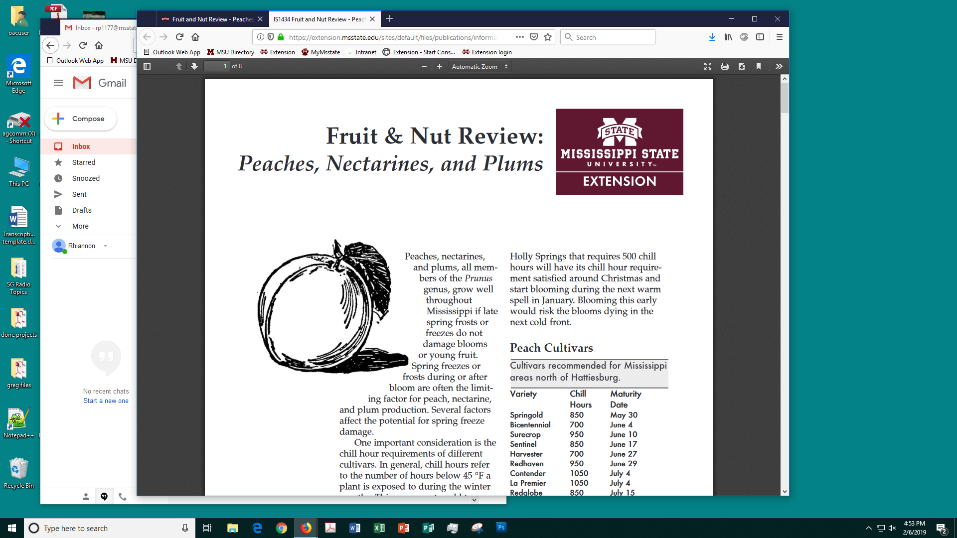 Fruit and Nut Review - Peaches, Nectarines, and Plums | Mississippi
