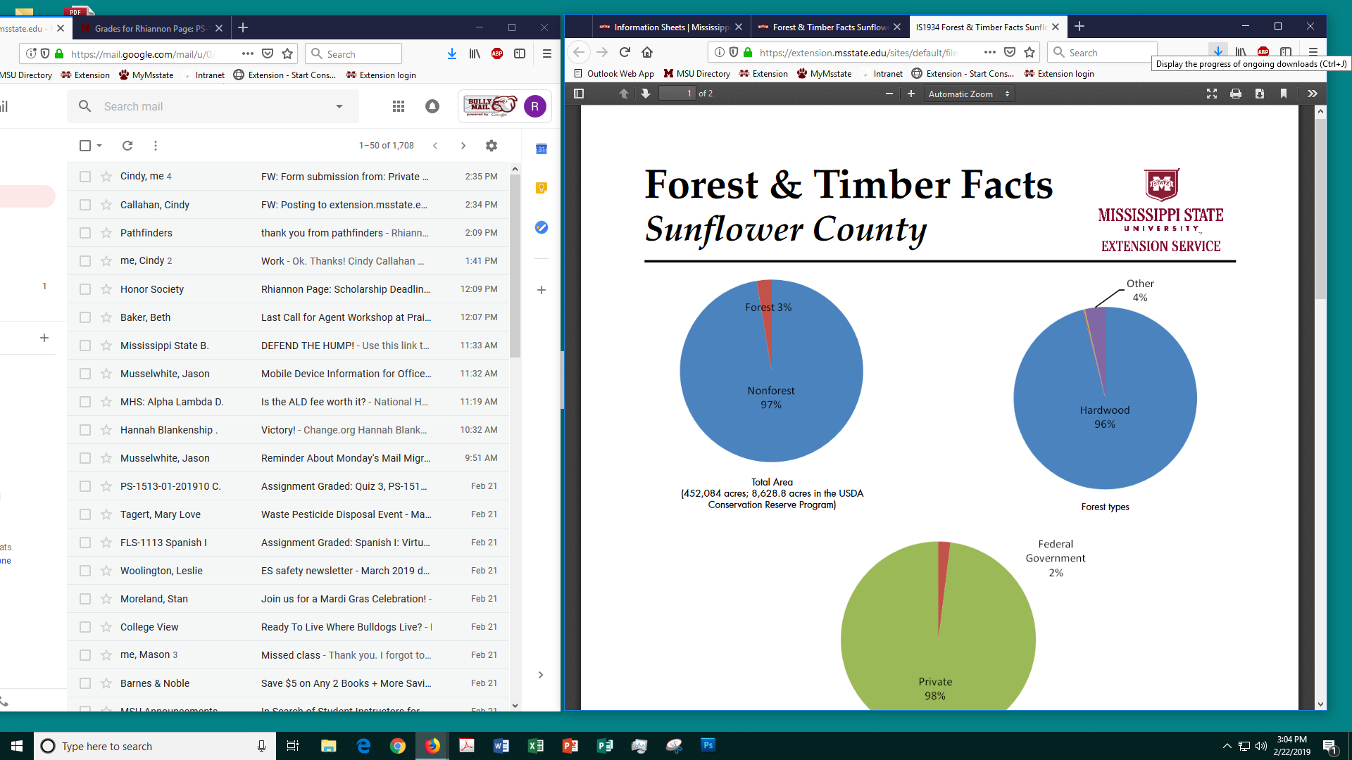 Forest & Timber Facts Sunflower County | Mississippi State