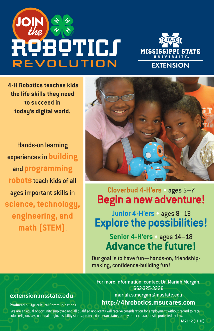 4h Robotics Flyers And Forms Mississippi State University