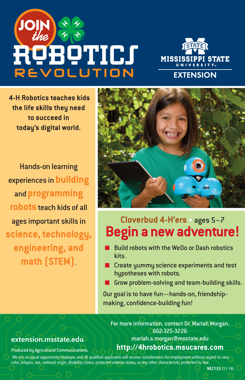4h Robotics Flyers And Forms Mississippi State