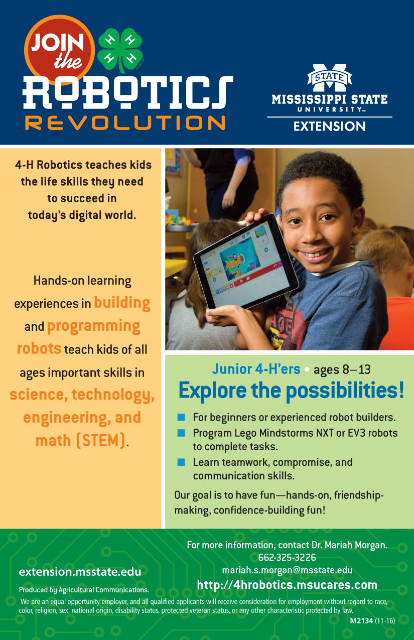 4h robotics flyers and forms