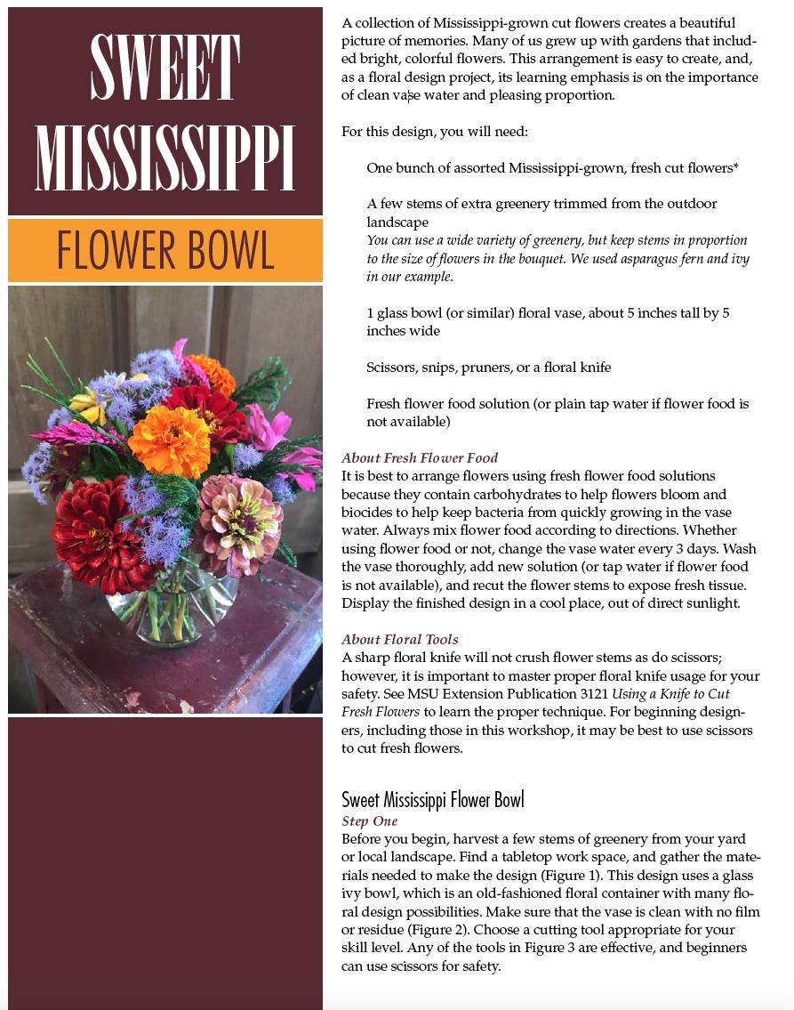 Sweet Mississippi Flower Bowl Mississippi State University