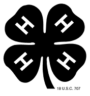 Black 4 leaf clover with H on each leaf.