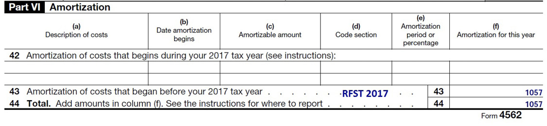 Sample IRS tax form with information described in text.