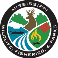Mississippi Department of Wildlife, Fisheries, and Parks logo.