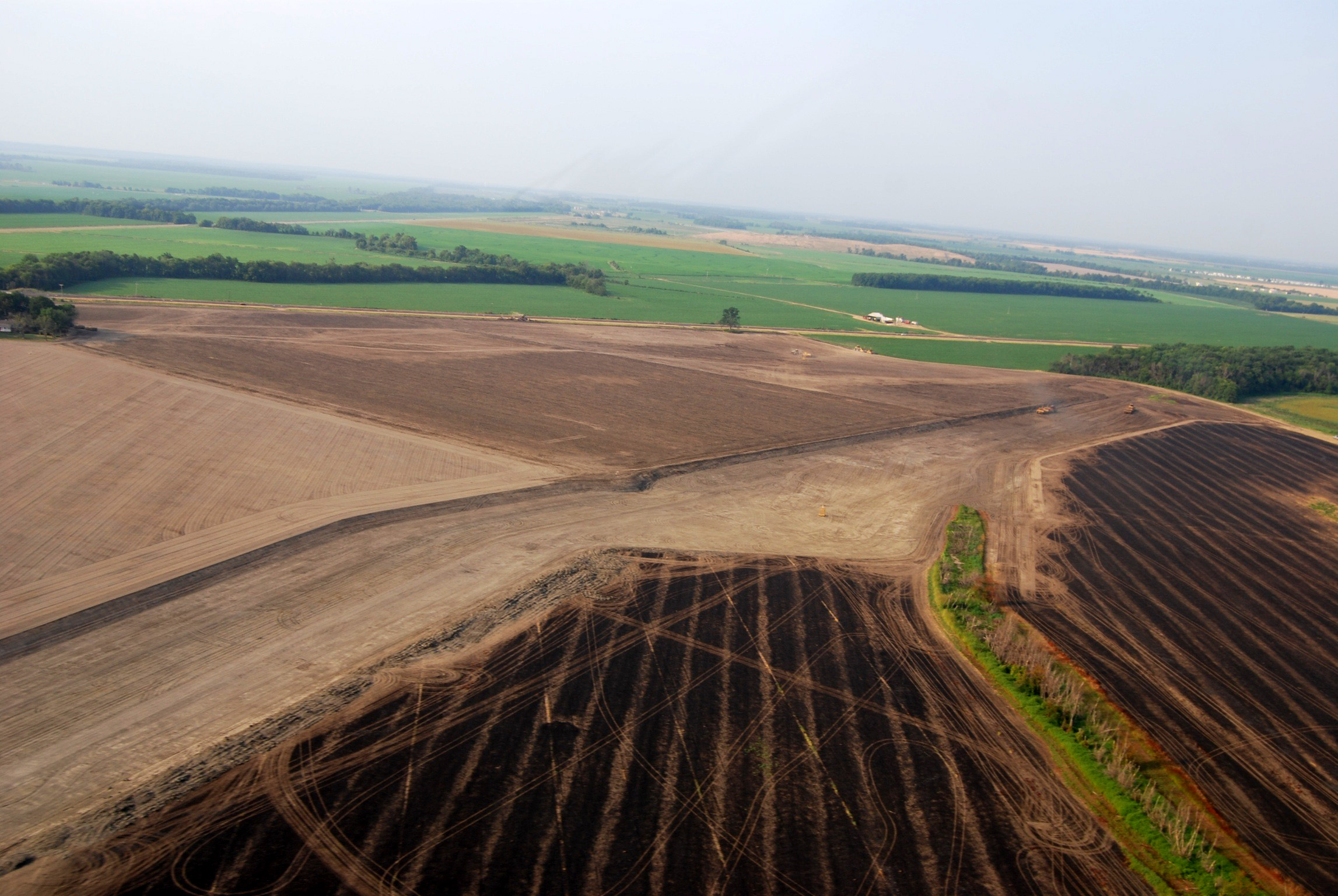 Aerial view of soils of the Mississippi Delta. Photo credit: Buddy Allen