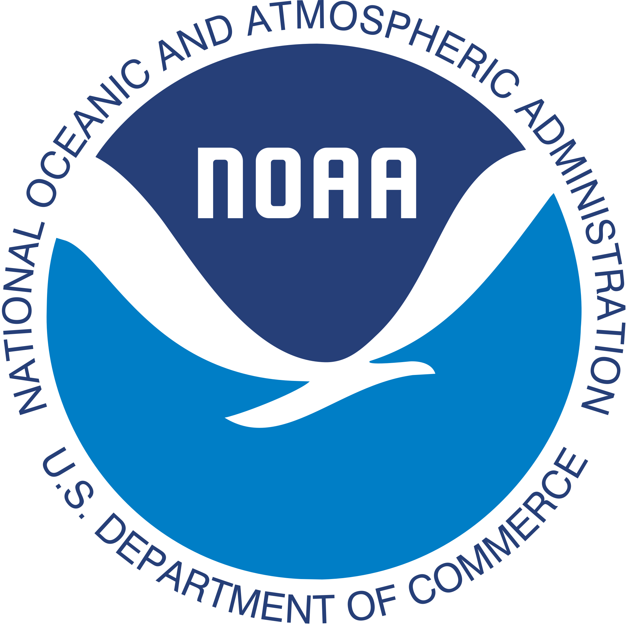 National Oceanonic and Atmospheric Administration, US Department of Commerce logo