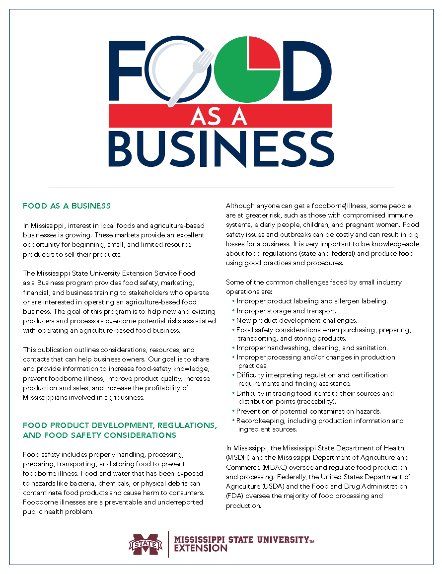 Food as a Business cover