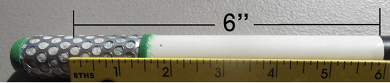 A ruler shower a 6-inch distance between the bottom of the tape and the middle of the sensor.