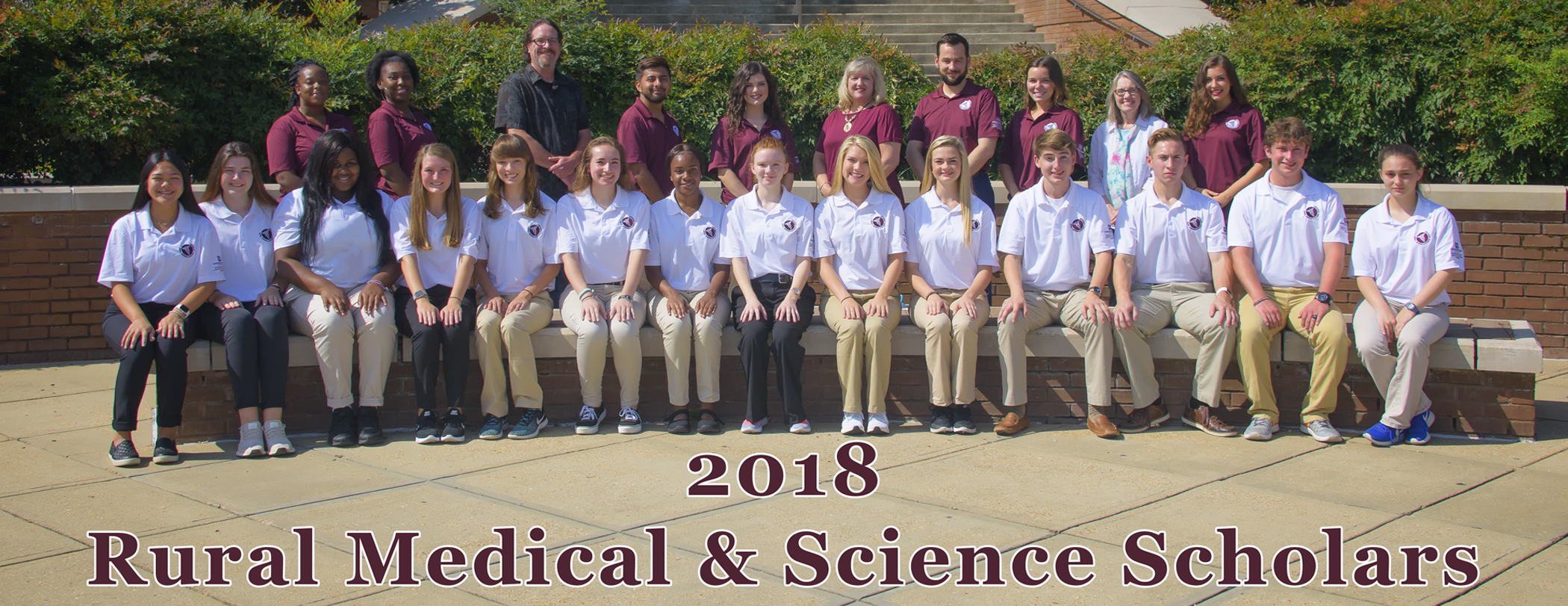 The 2018 Rural Medical Scholars pose as a group.