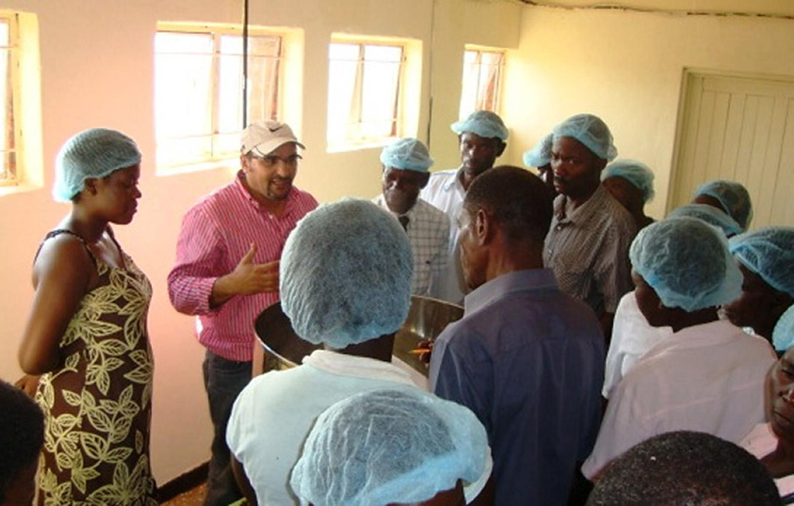 Barakat Mahmoud, a food scientist at Mississippi State University's Experimental Seafood Processing Laboratory, volunteered in Malawi to help a community-based company improve their production of juice and jams.