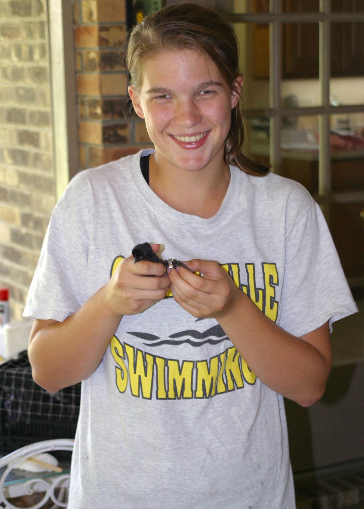 Sarah Byrd of Starkville placed fourth in the state in the 2012 4-H Poultry Chain project, which requires participants to raise 20 chicks for about five months before competing at the county level and auctioning their birds. (Submitted Photo)