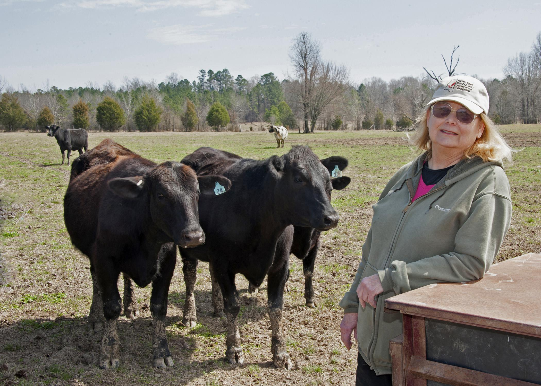 Mary Jane Coign runs a cow-calf operation in Starkville. She has overcome challenges to make an impact as a woman in agriculture. (Photo by MSU Ag Communications/Kat Lawrence)