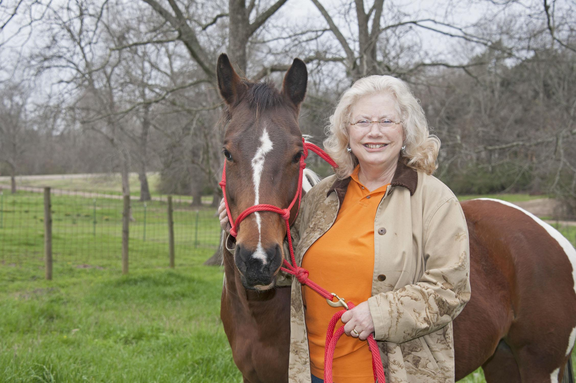 Virginia Mathews' lifelong love of horses launched her career with the animals. The Yazoo County entrepreneur is a member of Women for Agriculture. (Photo by MSU Ag Communications/Kat Lawrence)
