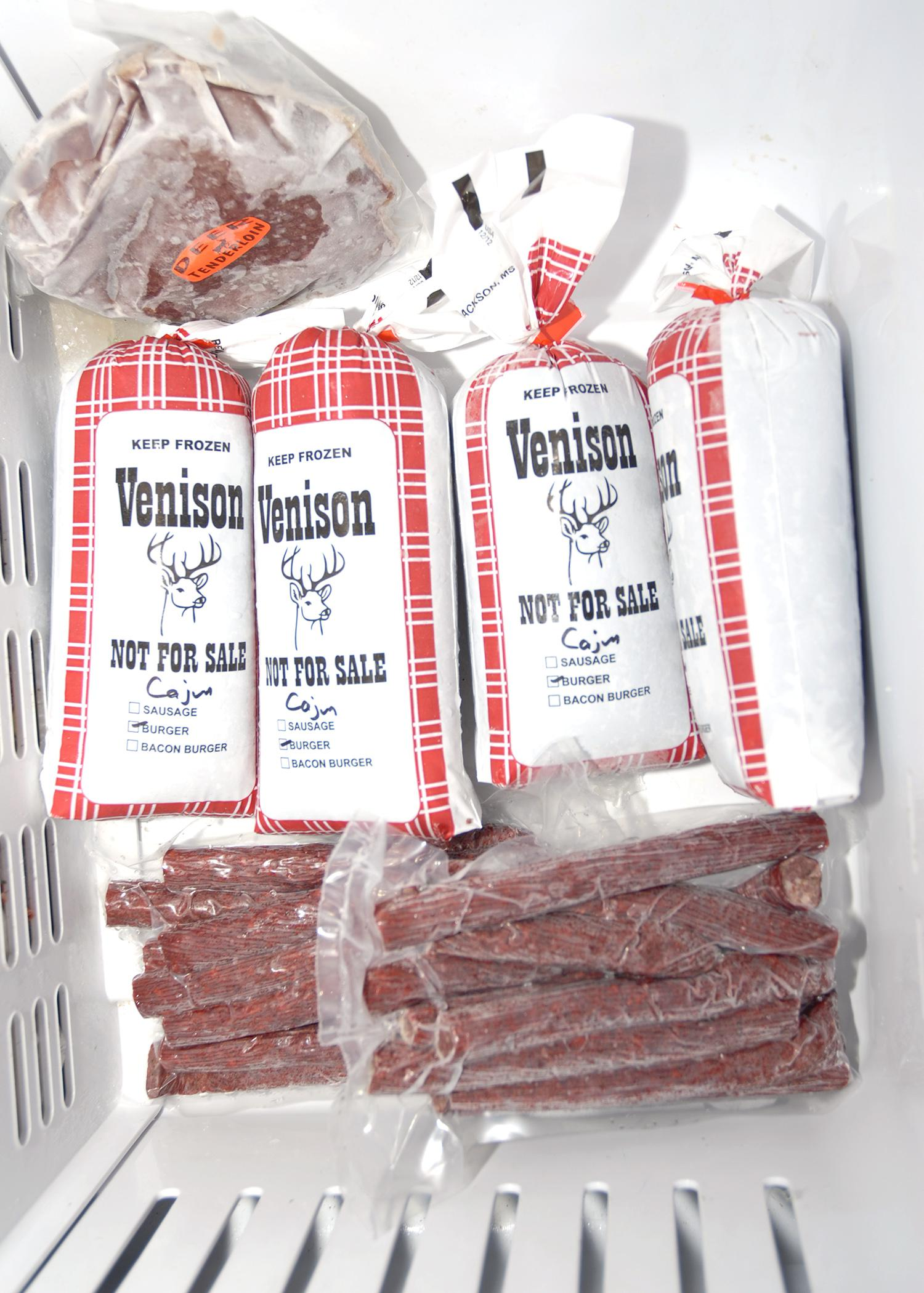 After processing, deer meat must be put into the freezer immediately for best flavor and highest quality. (Photo by MSU Ag Communications/Bonnie Coblentz)