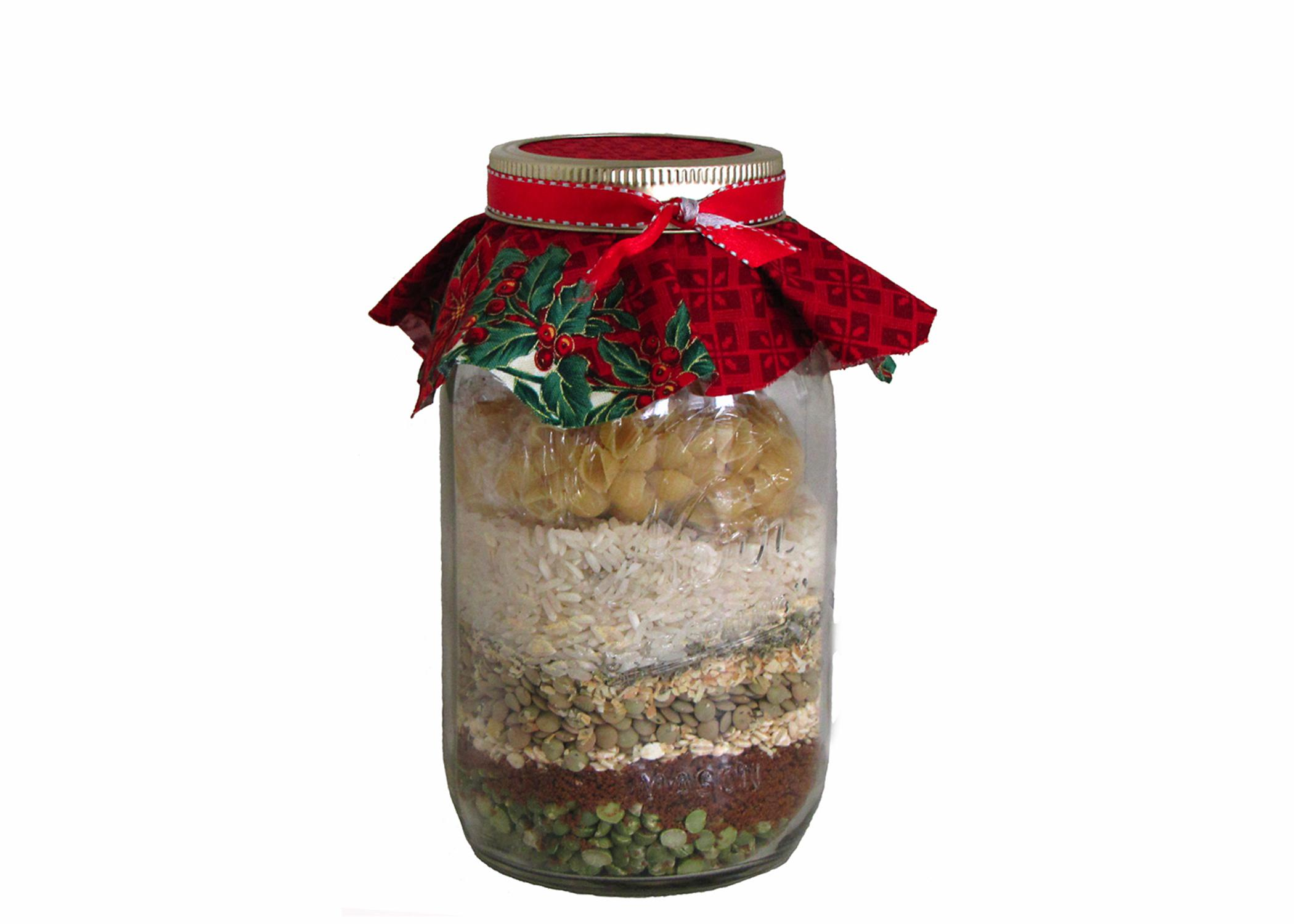 Handmade food gifts, such as jars with ingredients for a pot of soup or batch of cookies, are thoughtful ideas during the holiday season. (Submitted photo)