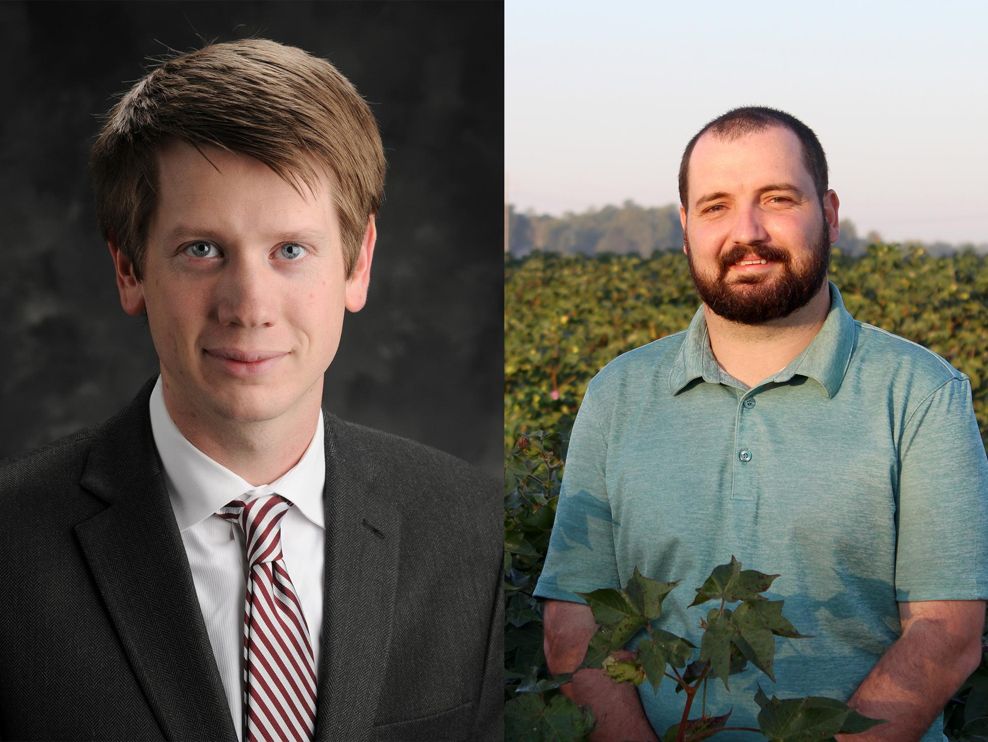 New ag economists Will Maples and Brian Mills.