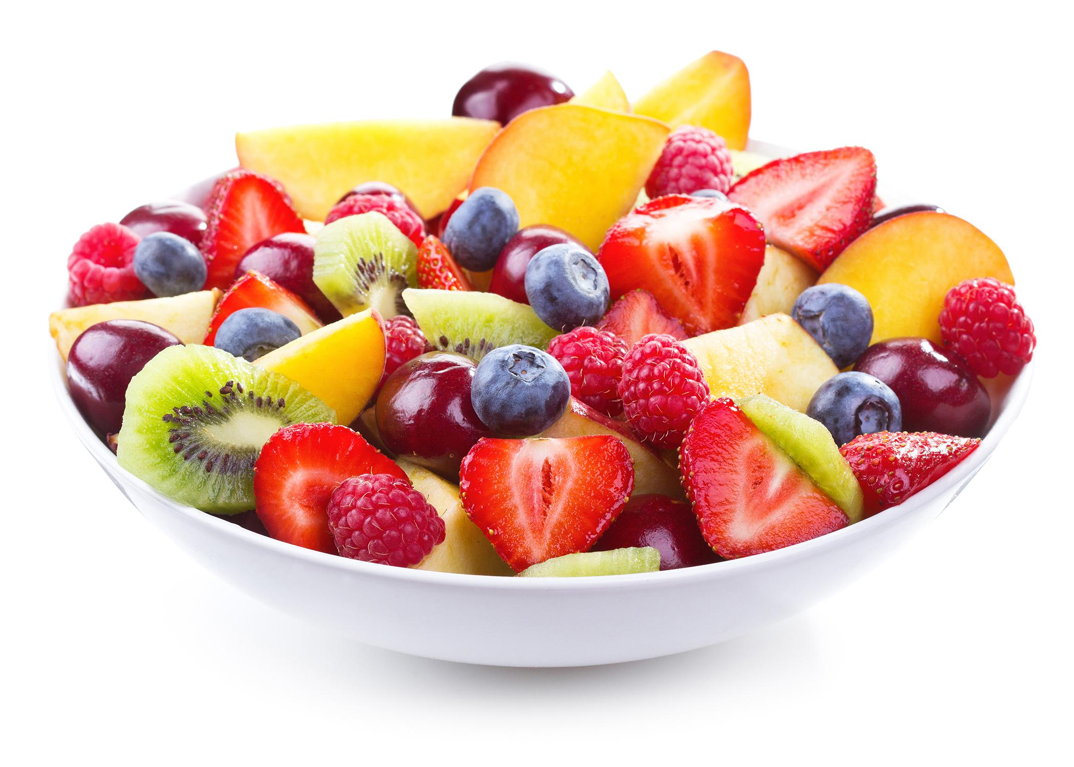 A bowl of various fruits