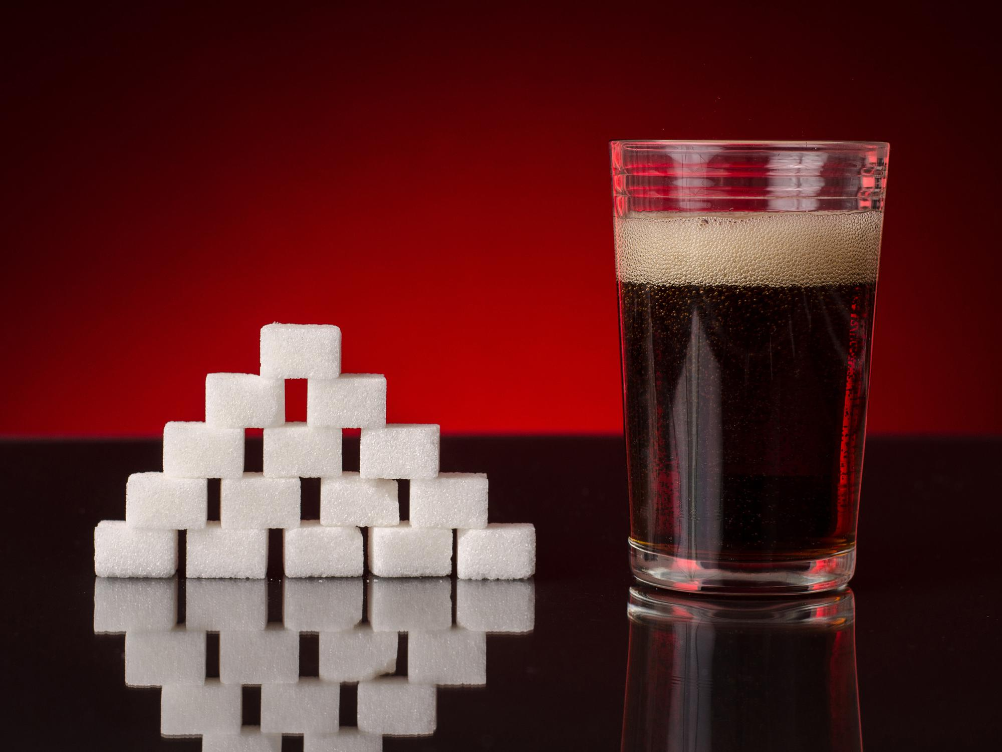 A 12-ounce can of soda may contain as much as 10 to 12 teaspoons of sugar. Added sugar in soda may increase the risks of insulin resistance, weight gain and dental health problems. (Photo by CanStock)