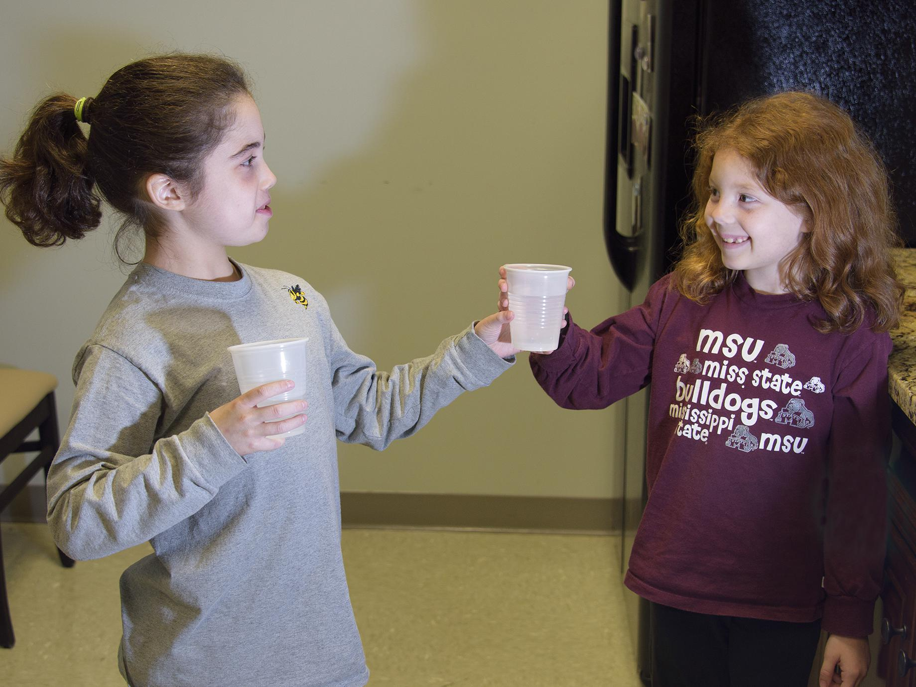 Parents want to know water is safe before offering a drink to their children. Water quality depends on different factors, including each home's system, but resources are available to help Mississippians learn more and follow best practices. (Photo by MSU Extension Service/Kevin Hudson)