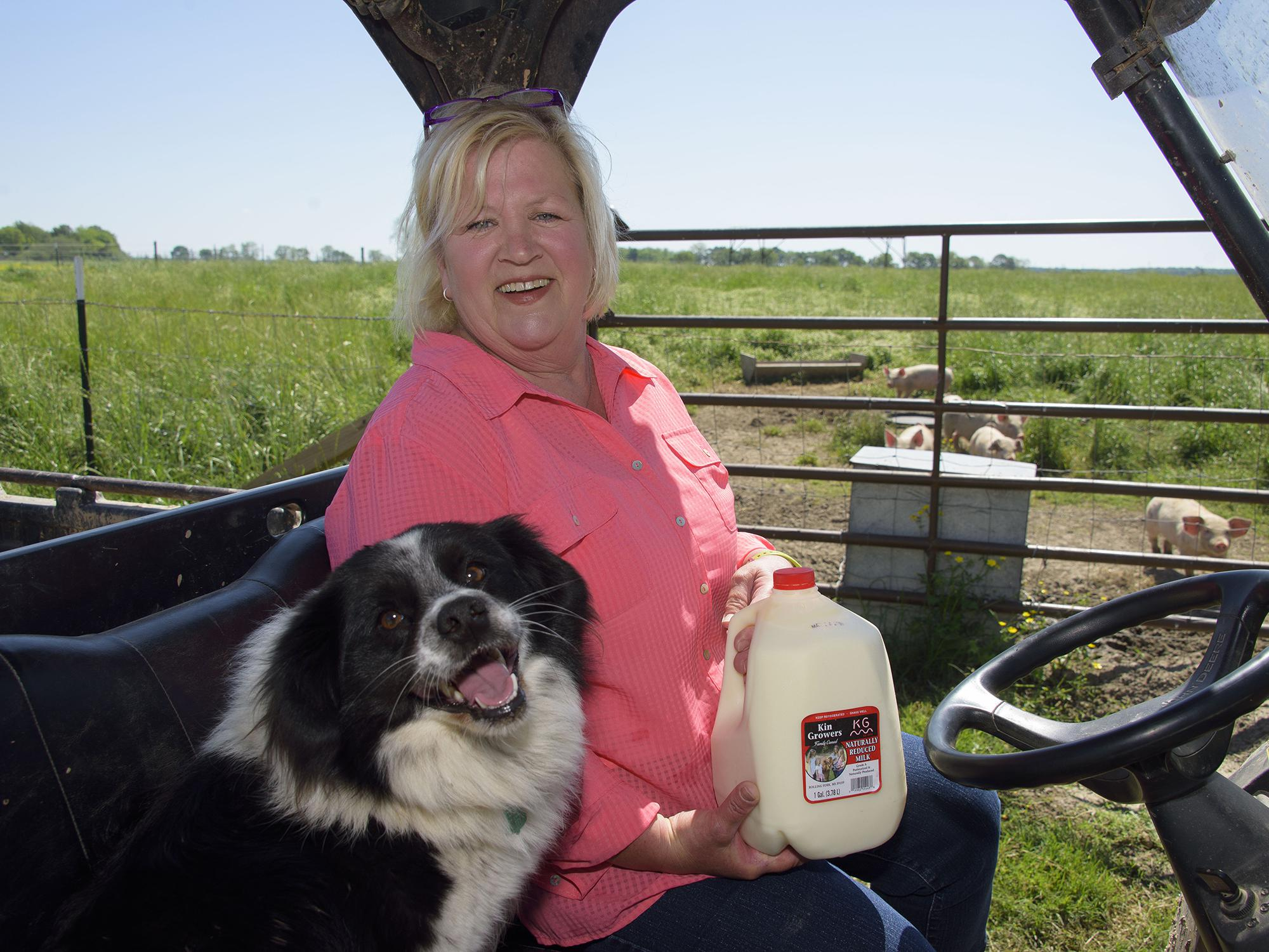 Mindy Rutherford and her family added a dairy to their Rolling Fork, Mississippi, farm this year. Milk produced by the farm's small dairy is processed on site. (Photo by MSU Extension Service/Kevin Hudson)
