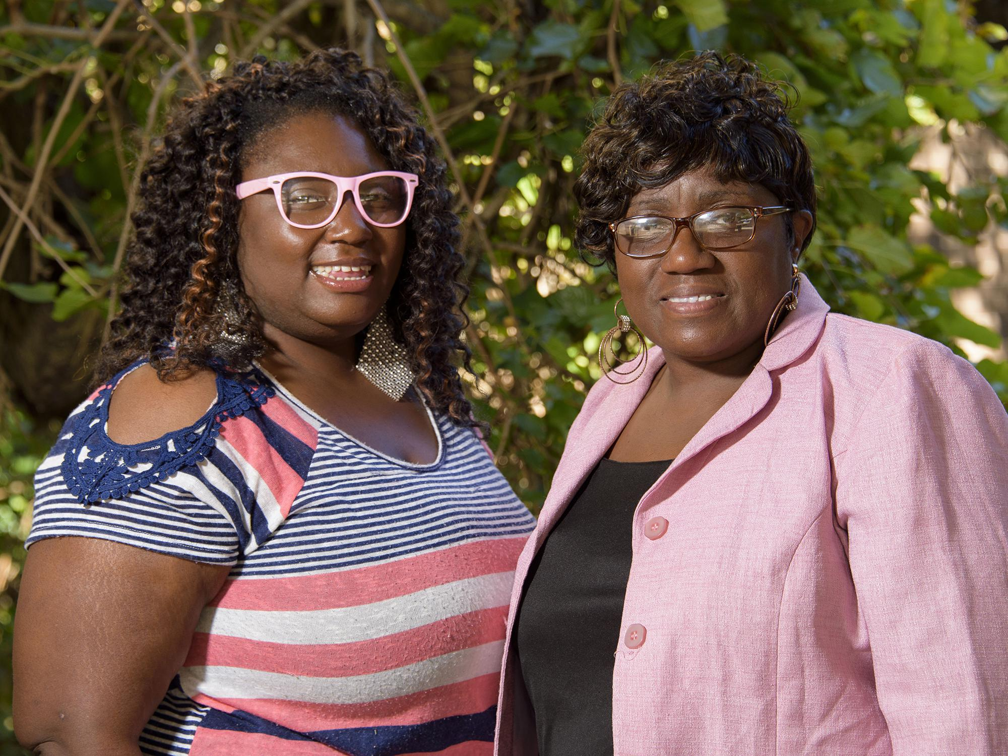 Jameka Coffey Harkins, left, and her mother, Rose Coffey-Graham, represent two generations leading an Oktibbeha County 4-H Club. Adult volunteers are keys to the youth develop program's success. (Photo by MSU Extension Service/Kevin Hudson)