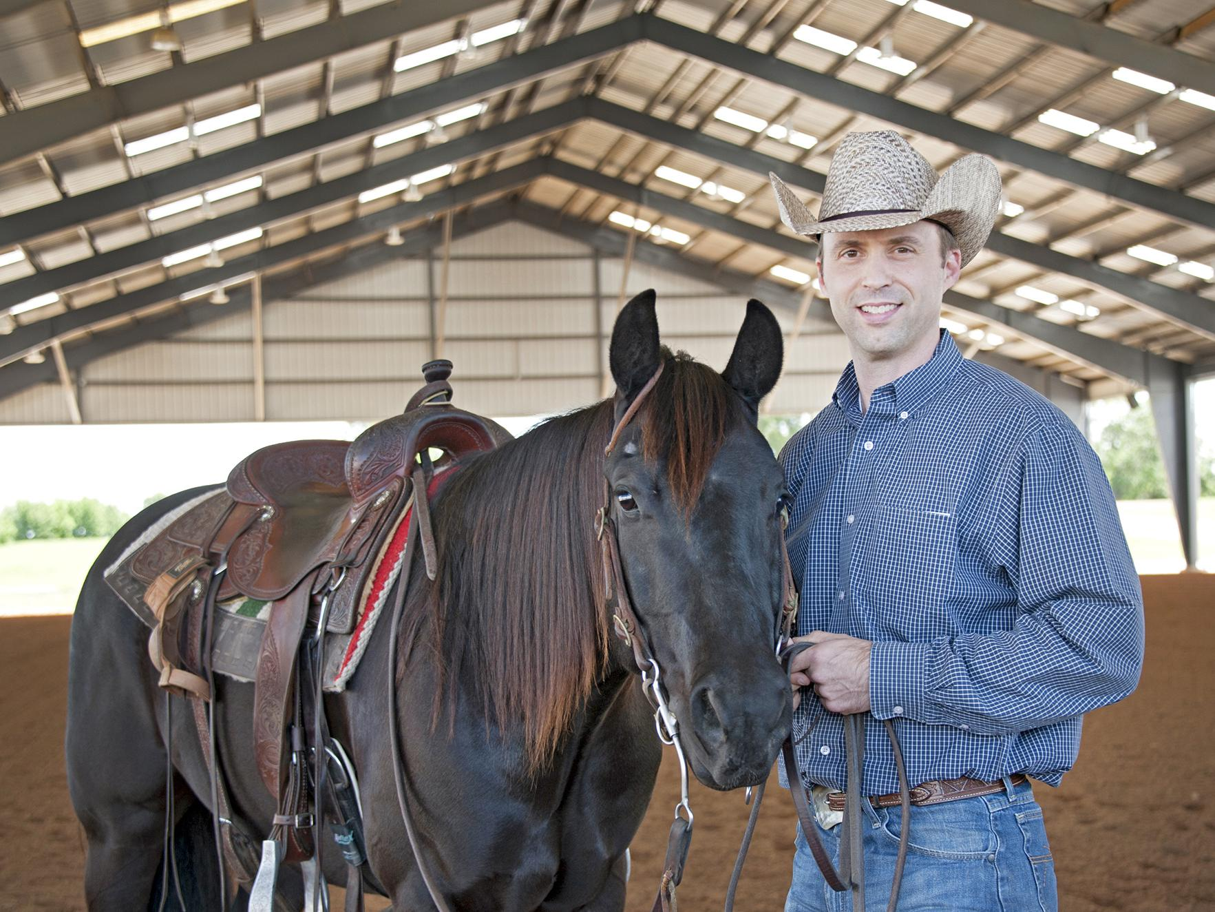 Mississippi State University Extension Service equine specialist Clay Cavinder will assist in the Horse Management: 101 classes from April 11 to May 16 at the Lee County Agri-Center in Verona. (File photo by MSU Extension Service/Kat Lawrence)