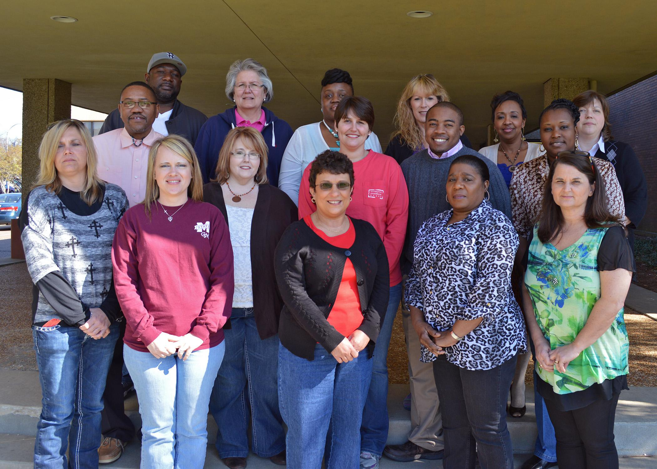 Participants in the 2014 Mississippi Tax Assessor Education and Certification Program training at Mississippi State University are as follows: Front Row, from left: Kimberly Turner and Ashley Carney (Lauderdale County), Cynthia Biles (Harrison), Sallie Price (Quitman) and Angela Burke (Clarke). Second Row: Darryl Ervin (Hinds), Lorna Wright (Pontotoc), Allison Culver (Desoto), Lee Ward (Hinds) and Alice Smith (Quitman). Third Row: Richard Caston (Hinds), Sandra Lollis (Harrison), Annie Peebles (Neshoba), Su