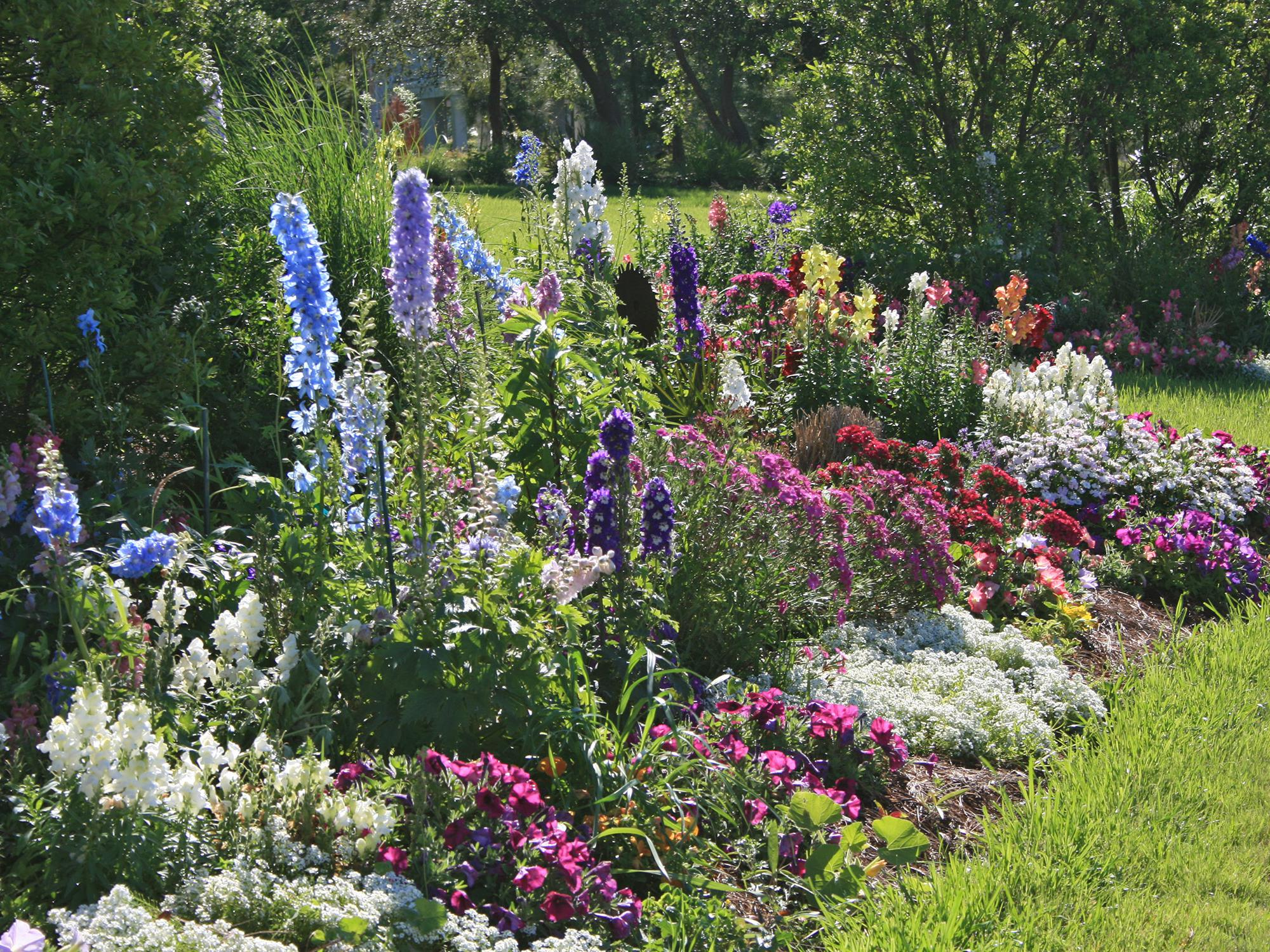 Give gardens the gift of organic matter in the fall to thank them for their beauty and bounty and prepare them for the next growing season. (Photo by MSU Extension Service/Gary Bachman)