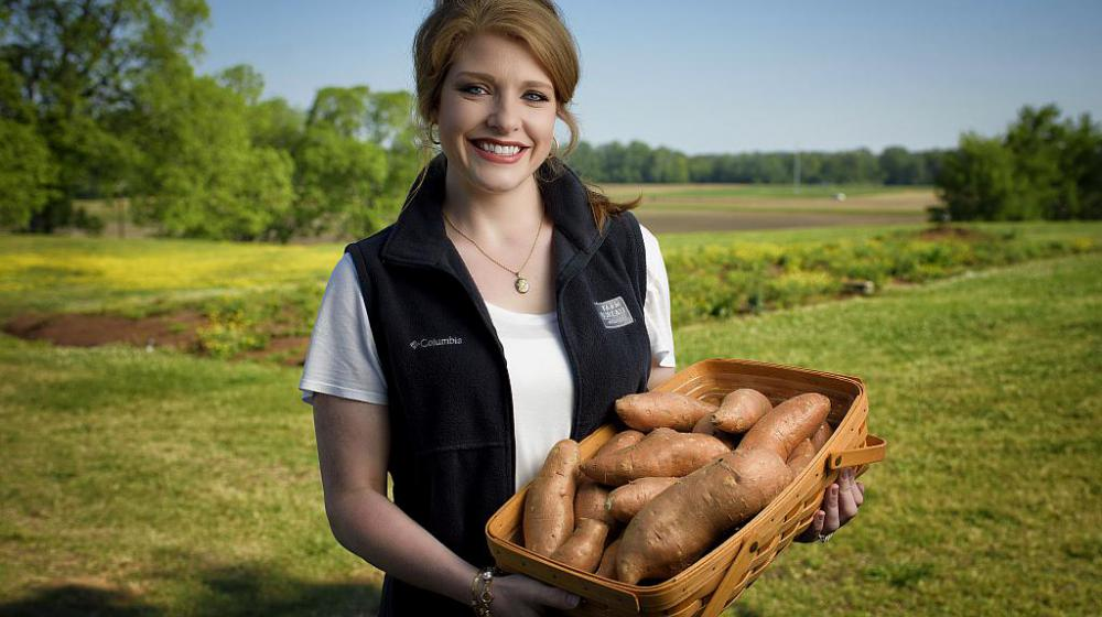 An image of Samantha Laird, Mississippi Farm Bureau regional manager and commodity director for sweet potatoes and peanuts.