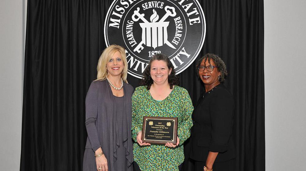 Natalie Gilmore from Alcorn County - Outstanding Volunteer of the year.