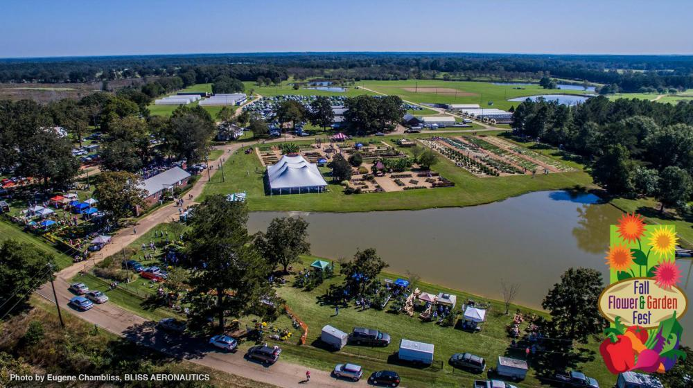 An aerial view of the 2017 Fall Festival.
