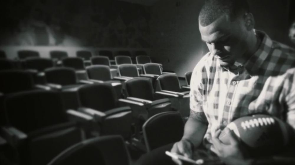 Dak looking pensive during the Colon Cancer Screening PSA shoot.