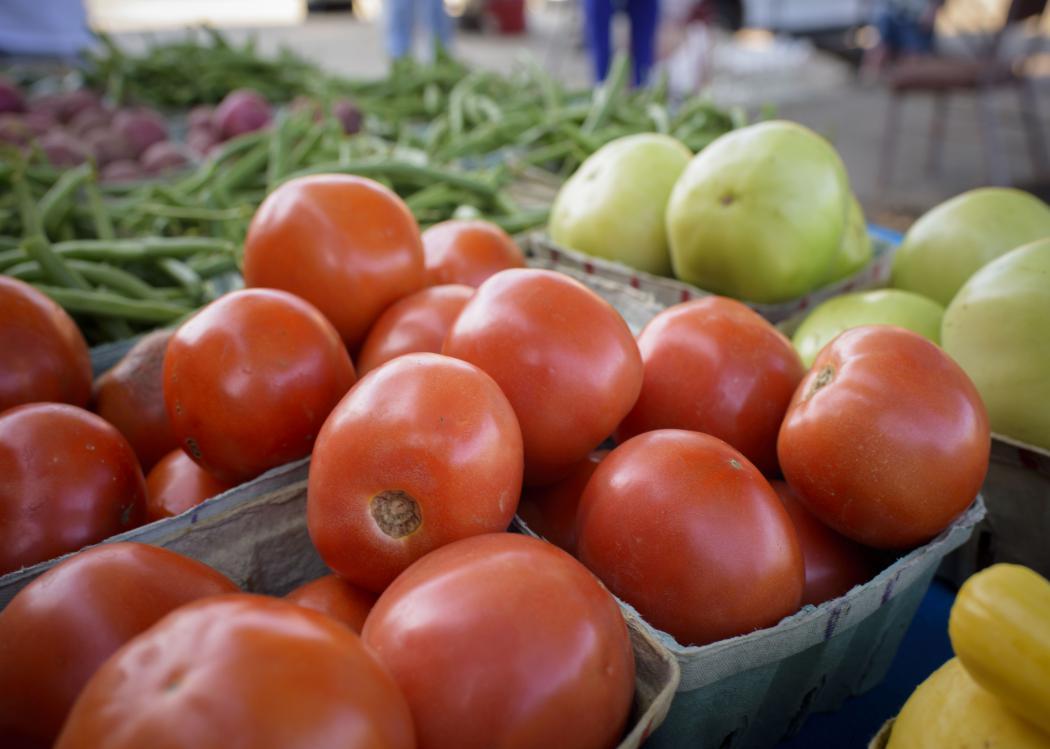 Portrait of farmers market produce
