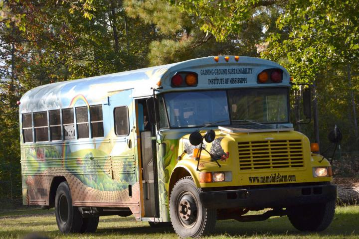 """The Gaining Ground Sustainability Institute of Mississippi uses a mobile farm to take examples of renewable energy and food production strategies to schools around the state. (Submitted Photo)"""""""