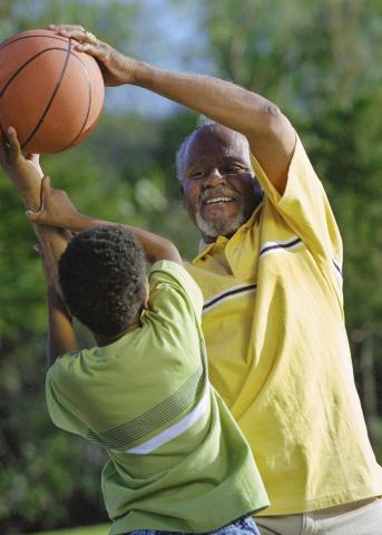 Staying physically active and eating healthy foods are lifestyle choices that pay big dividends over time, including being well enough to keep up with the grandkids. (Photo by Thinkstock)