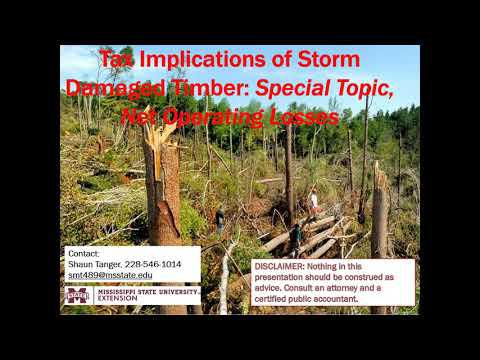Timber Tax MS: Tax Implications of Storm Damaged Timber - Net Operating Losses