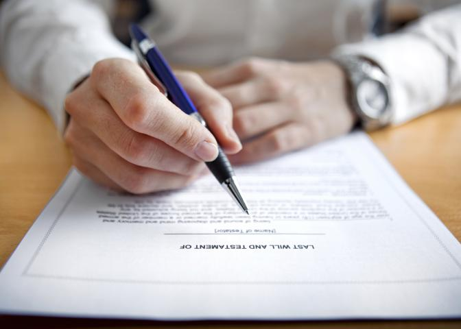A will is the best way for elders to protect their assets and distribute their possessions to family members and friends of their choice. (Photo by iStock)