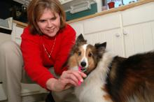 Susan Seal and her dog Sadie.