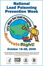 National Lead Poisoning Prevention Week poster