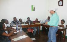 Barakat Mahmoud, an Extension research professor with Mississippi State University, recently spent three weeks teaching food preservation methods to 13 agriculture agents in Mozambique, Africa. (Submitted Photo)