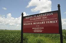 Mississippi State University received an $8 million bequest of real estate, the largest in university history, when Willis D. McGeary donated Sidon Plantation. The gift includes 2,637 acres of land and one of the oldest homes in Leflore County. (Photo by MSU Ag Communications/Scott Corey)