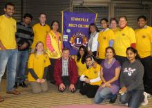 Mississippi State University postdoctoral researcher Aparna Krishnavajhala (front row, second from right) and her family created the KMVP Rural India Education Foundation to support the school in her home village. The Starkville Multi-Culture Lions Club partnered with the foundation to support these efforts. (Submitted photo)