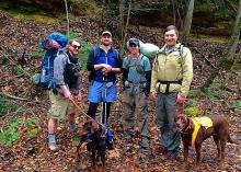 With the help of clothing layers for warmth, hiking with friends in one of Mississippi's many local and state parks does not have to stop during colder months. (Submitted photo)