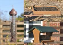 Different birdfeeder styles appeal to different bird species, so installing a greater variety of feeders will attract diverse birds. Most backyard bird species prefer black oil sunflower seeds. (Photos by MSU Extension Service/Adam Rohnke)