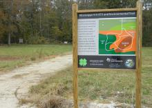 Use off-road vehicles on designated trails, such as this one at the Jimmy Bryan 4-H Youth Complex in West Point, Mississippi, to reduce negative impacts on the environment. (Photo by MSU Extension Service/Leslie Burger)