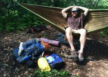 Hammocks offer great resting spots whether the excursion is a day trip or an overnighter. (Photo by MSU Extension Service)