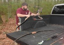 Archery enthusiasts have three types of bows to consider -- compound, recurved and longbow. (Photo by MSU Extension Service/Linda Breazeale)