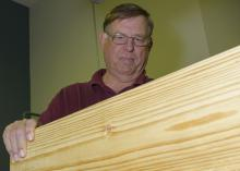 Dan Seale, a professor of sustainable bioproducts at the Mississippi State University Forest and Wildlife Research Center, conducts some of the most rigorous testing and scrutiny in the lumber industry. (MSU Extension Service/Kevin Hudson)